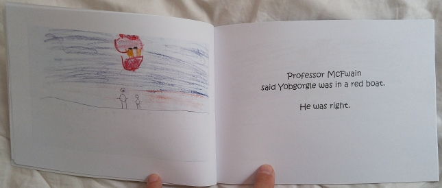 You haven't experienced true joy until you've seen your kiddo flipping the pages of his/her own published book.